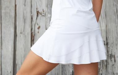Photo of a white skirt