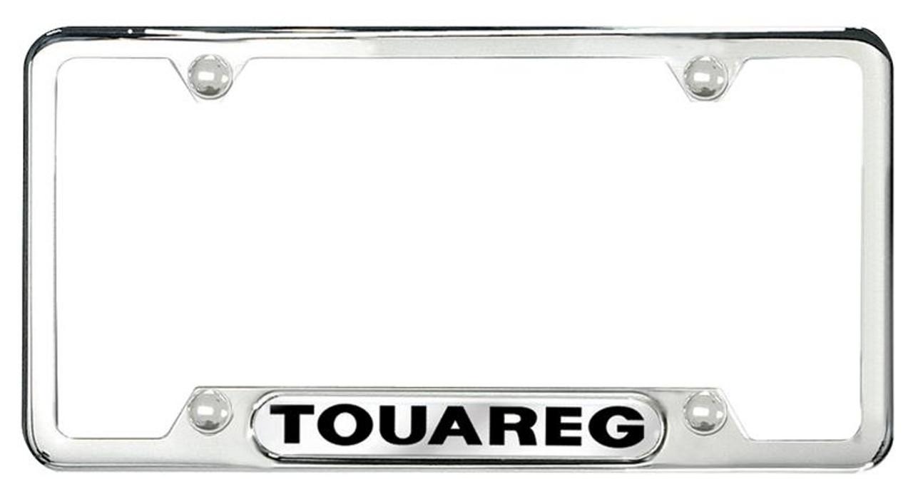 vw touareg polished license plate frame