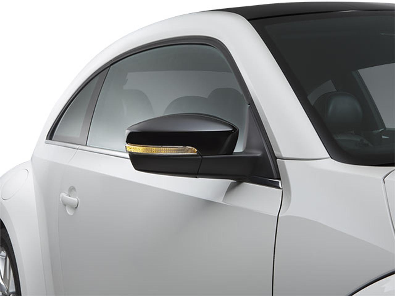 VW Beetle Black Side Mirror Covers