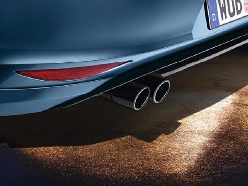 VW Jetta Black Stainless Steel Exhaust Tips