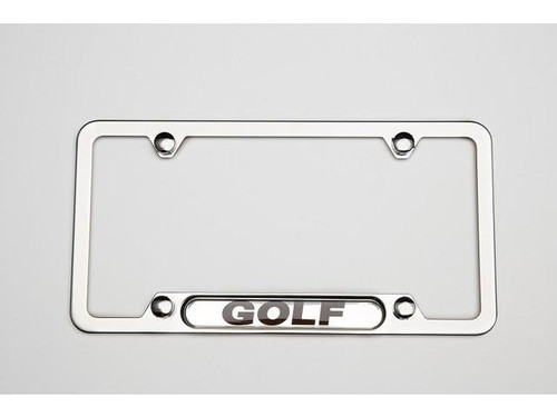 VW Golf Polished License Plate Frame