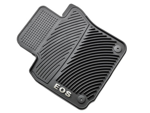 VW Eos Rubber Floor Mats - Round Retention Clips