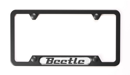 VW Beetle Black License Plate Frame
