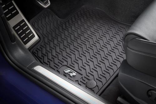 VW Golf R Rubber Floor Mats
