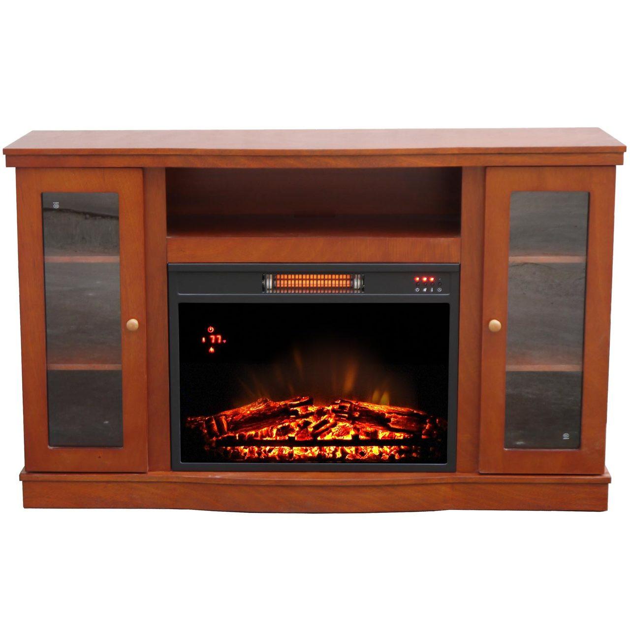 comfort glow qef7530rkd abington media center with infrared quartz rh worldmkting com Electric Fireplace TV Stand Corner Electric Fireplace Media Center