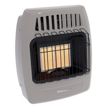 Kozy World KWD215 12,000 Btu 2 Plaque Propane(LP) & Natural Gas (NG)  Infrared Vent Free Wall Heater