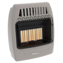 Kozy World KWD325 18,000 Btu 3 Plaque Propane(LP) & Natural Gas (NG)  Infrared Vent Free Wall Heater