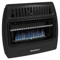 Kozy World KWG362 30,000 Btu Blue Flame Propane(LP) & Natural Gas(NG) Vent Free Utility Wall Heater
