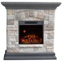 Comfort Glow QSF8208R Westgate Granite Style Mantel with IR Quartz Electric Fireplace