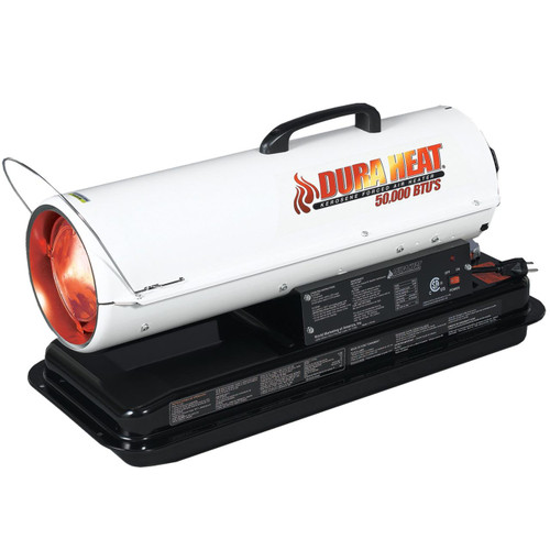 Dura Heat DFA50 50,000 BTU Kero Forced Air Heater with Carrying Handle