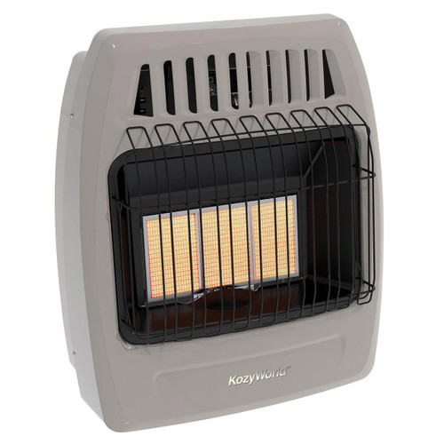 Kozy World KWN395 18,000 Btu 3 Plaque Natural Gas(NG) Infrared Vent Free Wall Heater