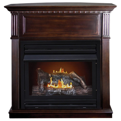 Kozy World GFD2670 The Lincolnshire Propane (LP) or Natural Gas(NG)  Vent Free Fireplace, 27,500 BTUs