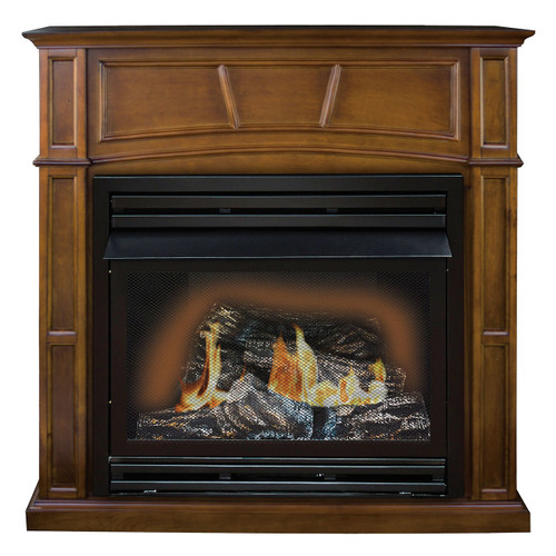Kozy World GFD3280R The Savannah Remote Controlled Vent Free Gas Fireplace, 30,000 Btu