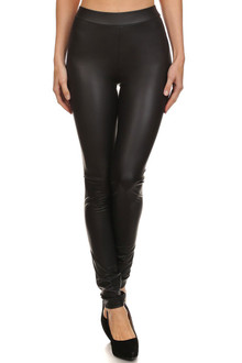 Premium Matte Faux Leather Leggings