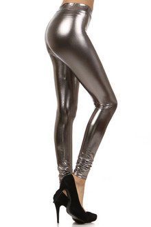 Premium Shiny Faux Leather Leggings