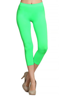 Capri Length Nylon Spandex Leggings