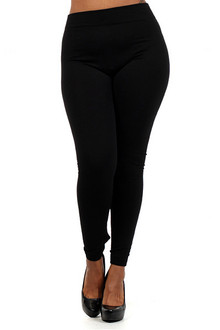 Thick Fleece Lined Plus Size Leggings