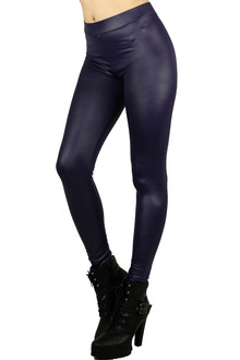 Purple Matte Liquid Cotton Leggings
