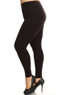 Plus Size High Waisted Sport Cotton Leggings