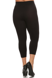 Plus Size Basic Spandex Capri Leggings