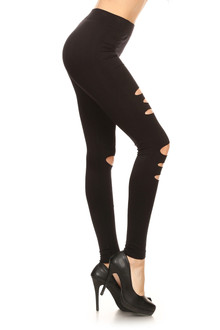 Front Assorted Slashed Leggings