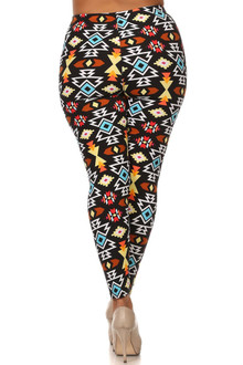 Colorful Geometric Tribal Plus Size Leggings