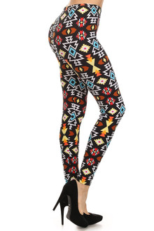 Colorful Geometric Tribal Leggings