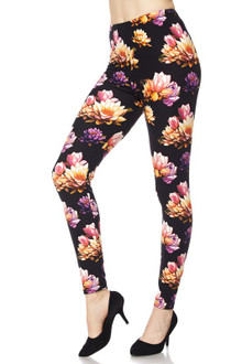 Plus Size Playful Floral Leggings