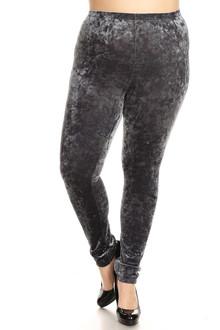 Crushed Velvet Leggings - Plus Size