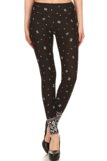 Wholesale Premium Brushed High Waisted Bohemian Sport Leggings