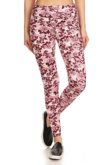 Brushed High Waisted Rosetta Rose Sport Leggings
