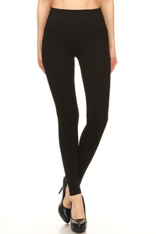 High Waisted Basic Crossover Leggings