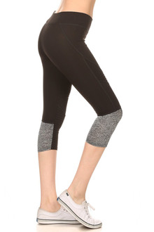 Women's Serrated Panel Workout Capris