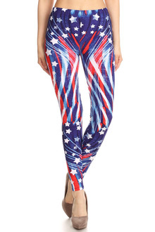 Beautiful Blue USA Flag Leggings