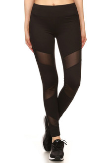 Premium 3 Mesh Panel Sport Leggings