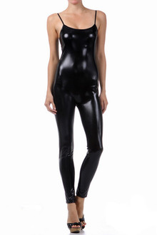 Shiny Liquid Sleeveless Jumpsuit