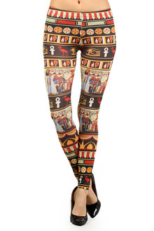 Color Pop Hieroglyphics Leggings