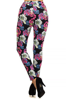 Pop Art Peony Harem Leggings