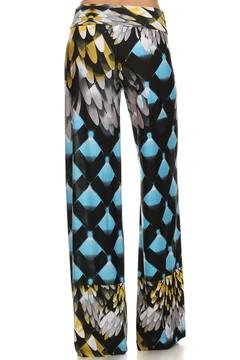 Blue Plume Wide Leg Palazzo Pants