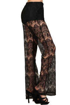 Sultry Lace Wide Leg