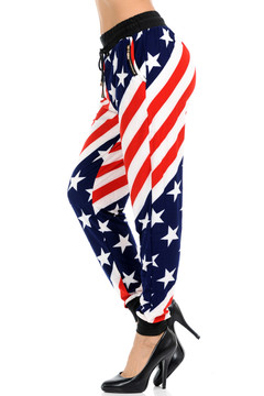 Twisted USA Flag Joggers