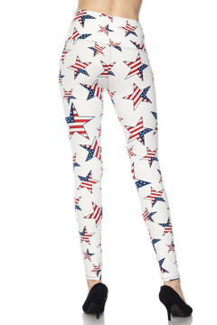 Ivory USA Flag High Waisted Leggings