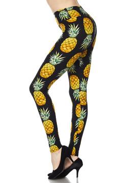 High Waisted Summer Pineapple Plus Size Leggings