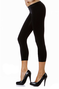 Colorful One Size Basic Seamless Capris