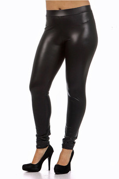 Premium Matte Faux Leather Leggings - Plus Size