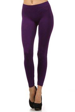 Basic Full Length Spandex Leggings Profile