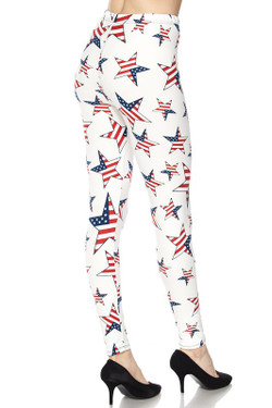 Ivory USA Flag Leggings