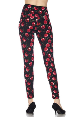 Wild Cherry High Waisted Leggings