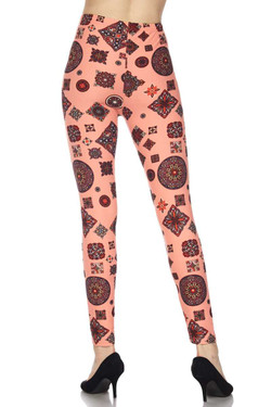 Coral Charisma Tribal Leggings