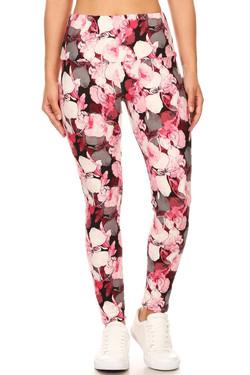 Buttery Soft Raspberry Rose High Waist Leggings